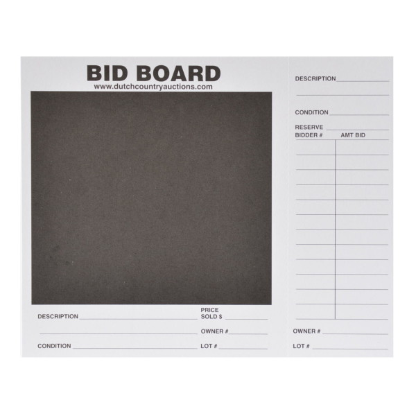 Bid Board Card